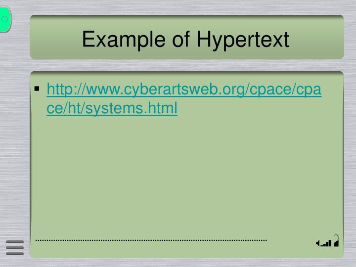 Example of Hypertext