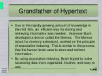 grandfather of hypertext
