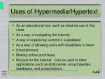 uses of hypermedia hypertext
