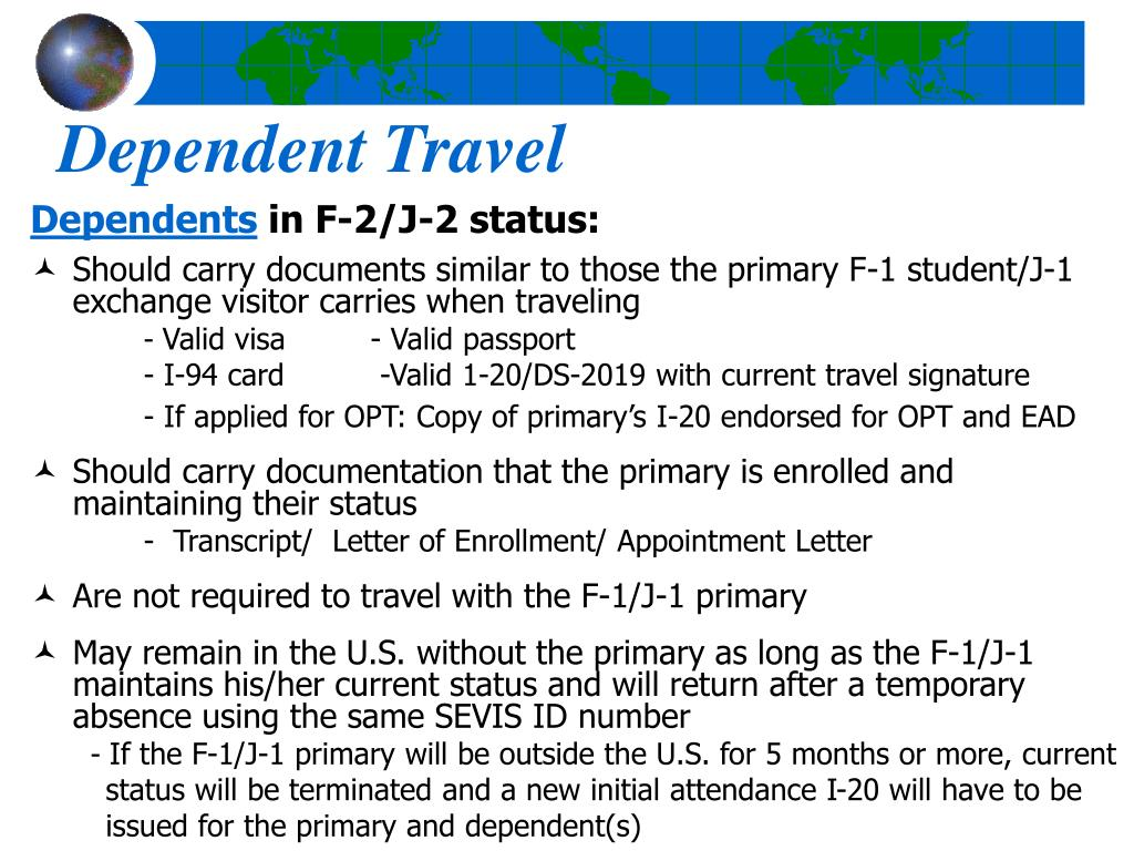 Dependent Travel