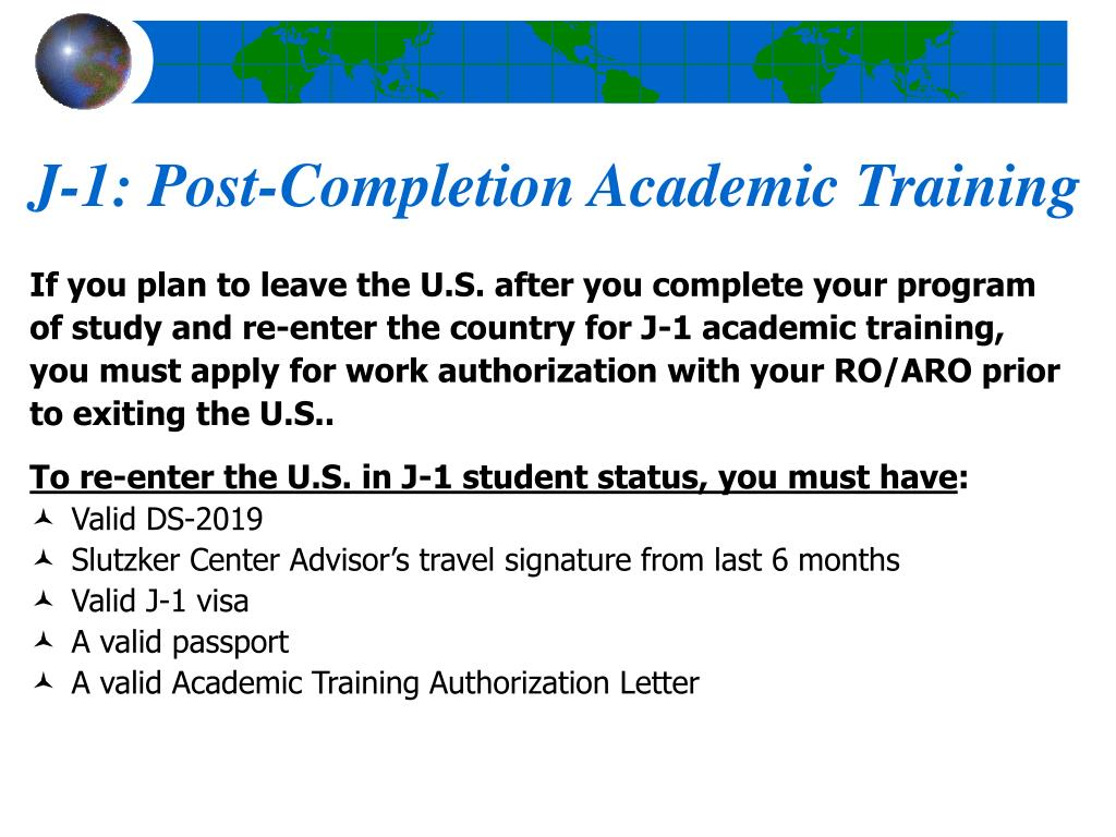J-1: Post-Completion Academic Training