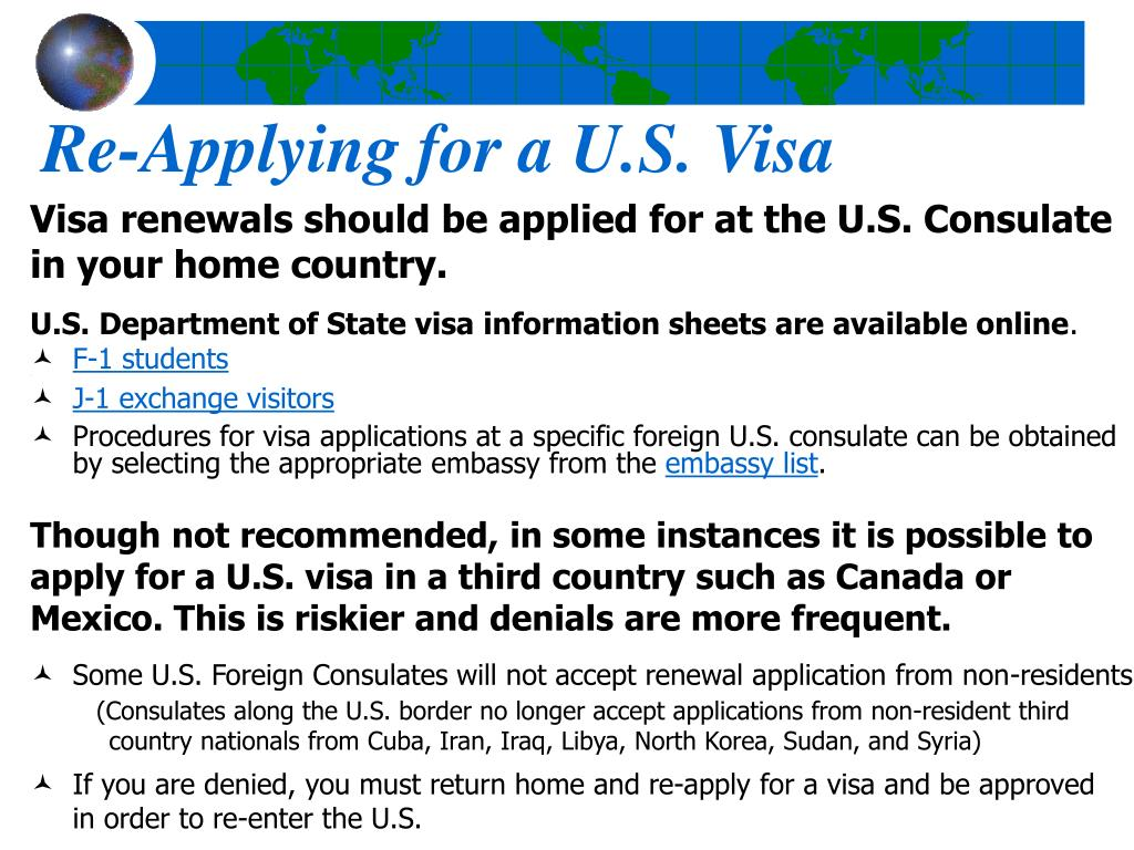 Re-Applying for a U.S. Visa