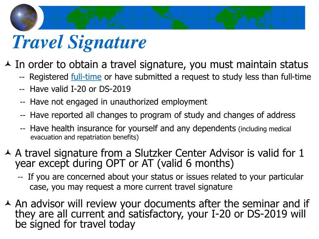 Travel Signature