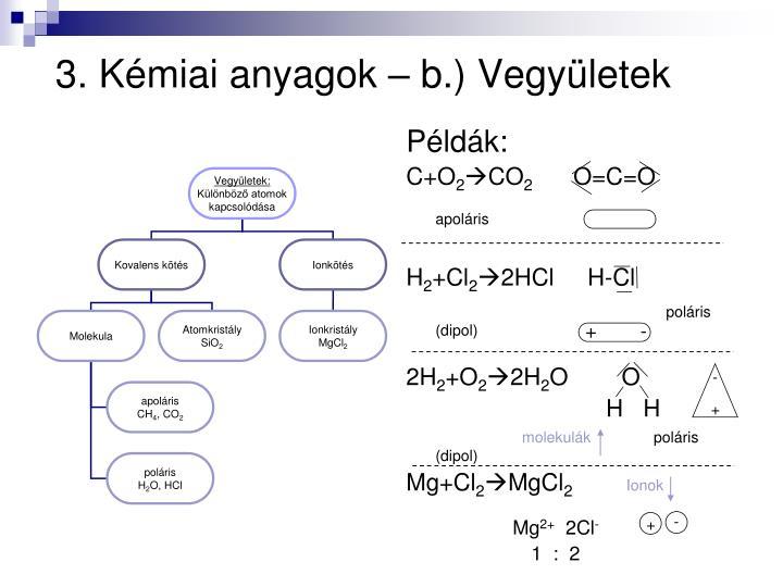 3. Kmiai anyagok  b.) Vegyletek