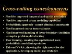 cross cutting issues concerns