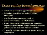cross cutting issues concerns43