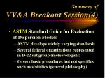 summary of vv a breakout session 4