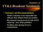 summary of vv a breakout session 6