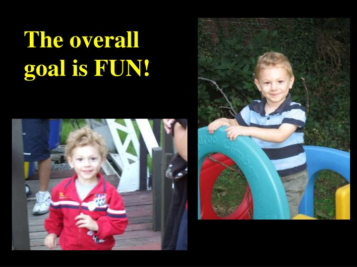 The overall goal is FUN!