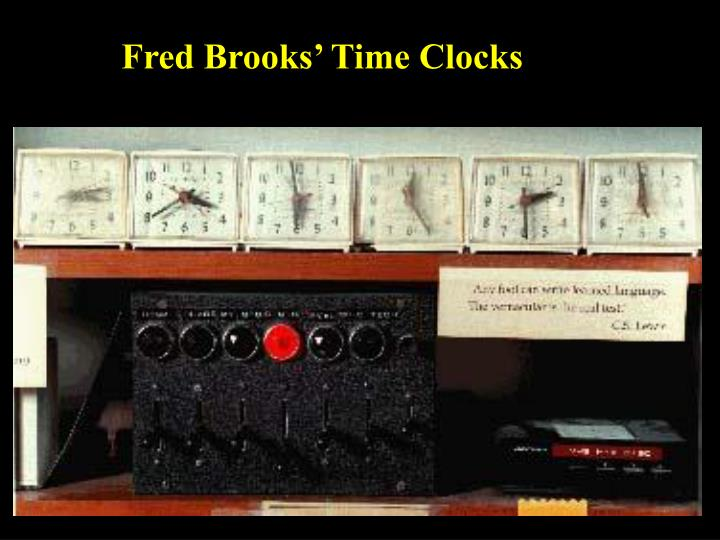 Fred Brooks' Time Clocks