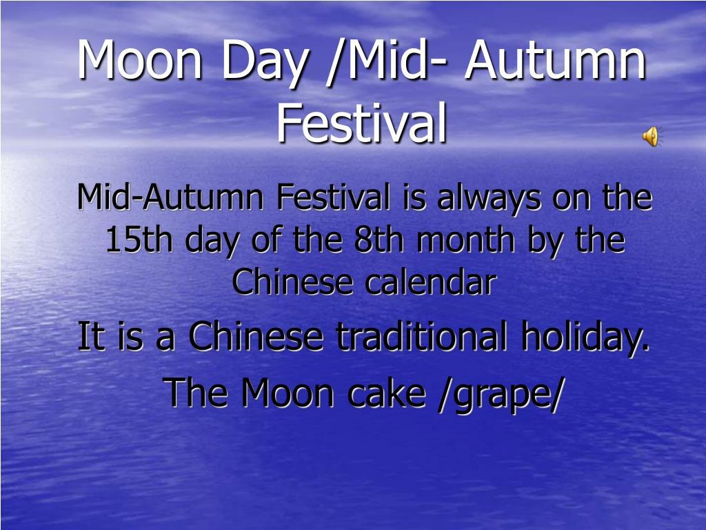 Moon Day /Mid- Autumn Festival