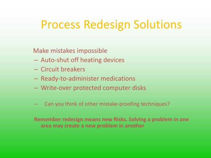 Process Redesign Solutions