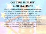 on the implied limitiations