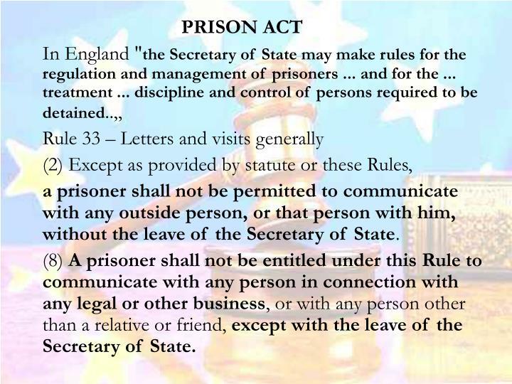 PRISON ACT