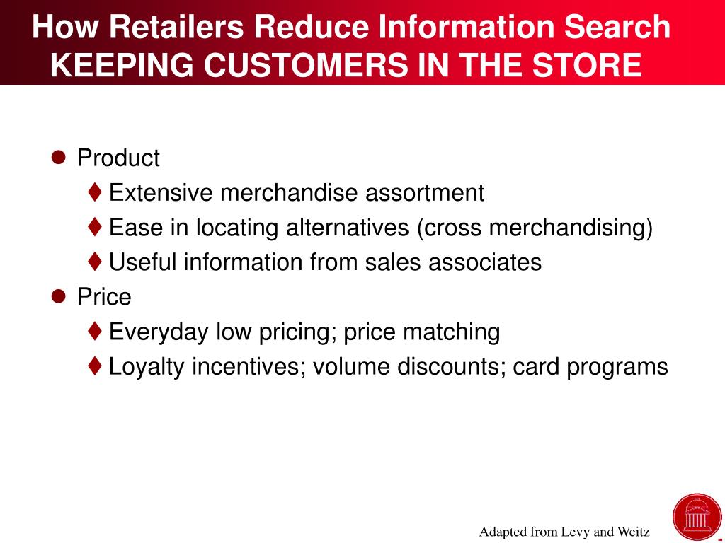 How Retailers Reduce Information Search