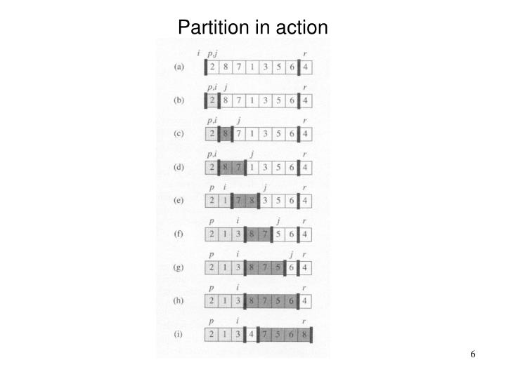 Partition in action