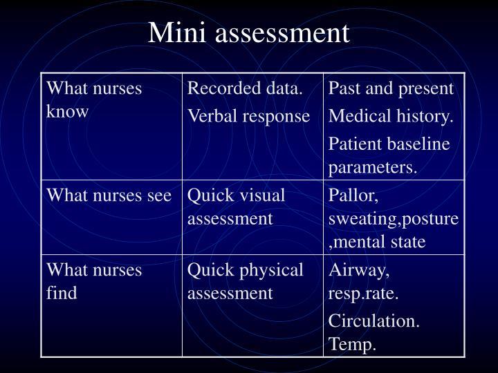 Mini assessment