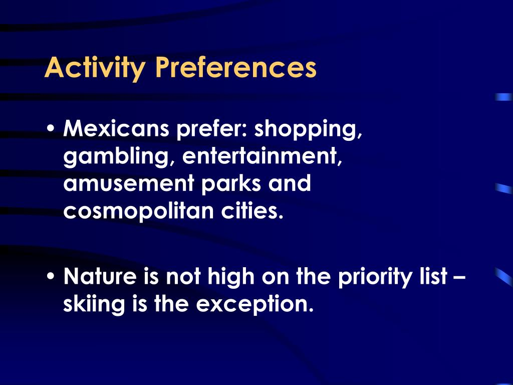 Activity Preferences