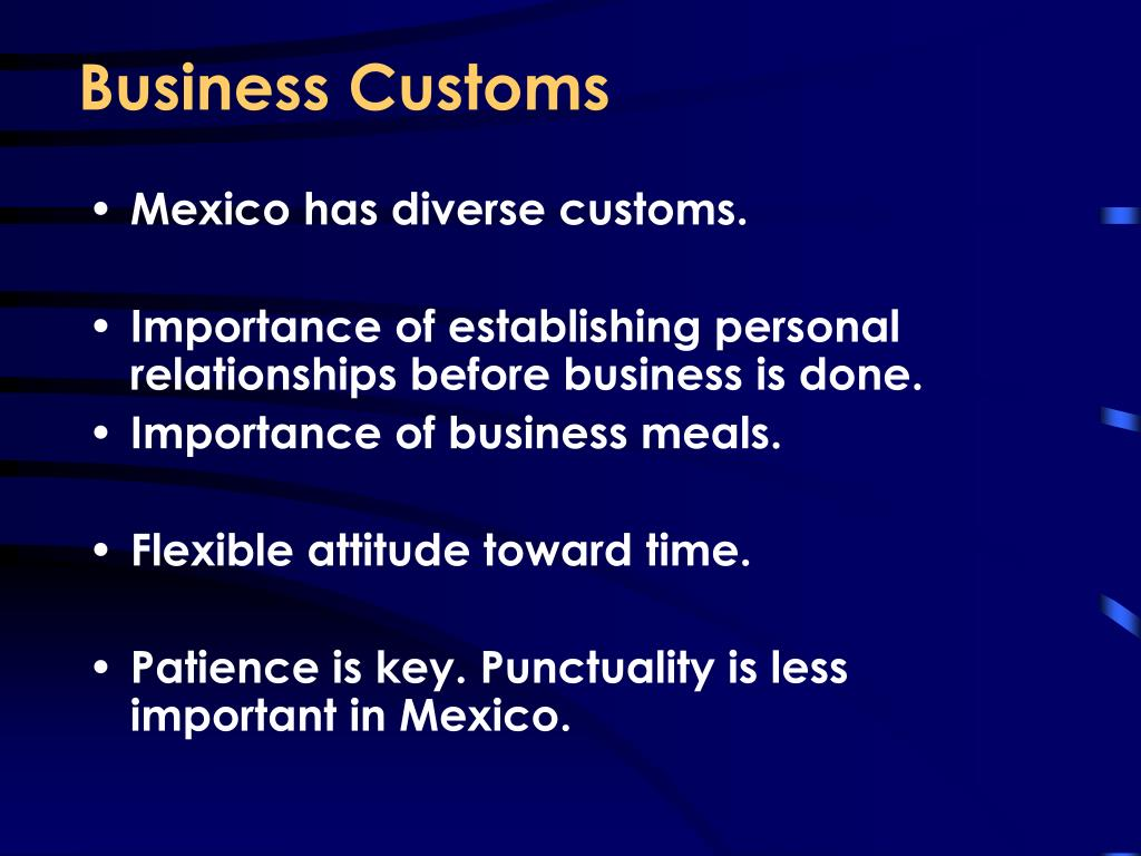 Business Customs