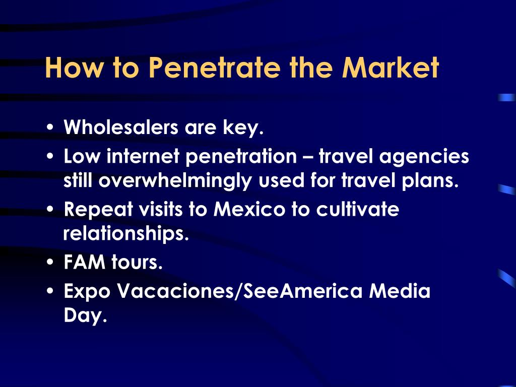 How to Penetrate the Market
