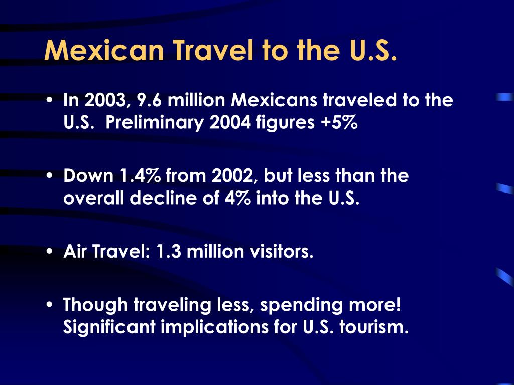 Mexican Travel to the U.S.