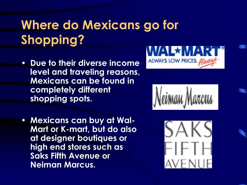 Where do Mexicans go for Shopping?