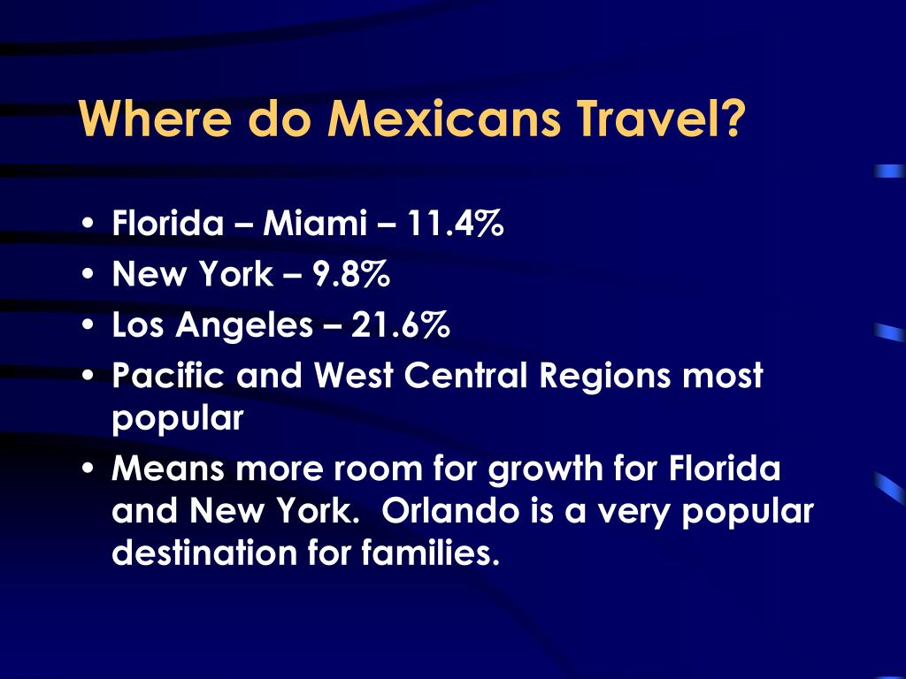 Where do Mexicans Travel?