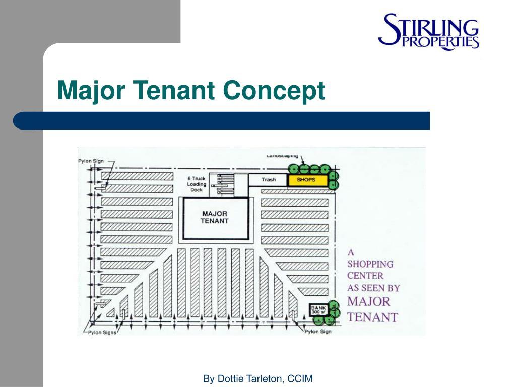 Major Tenant Concept