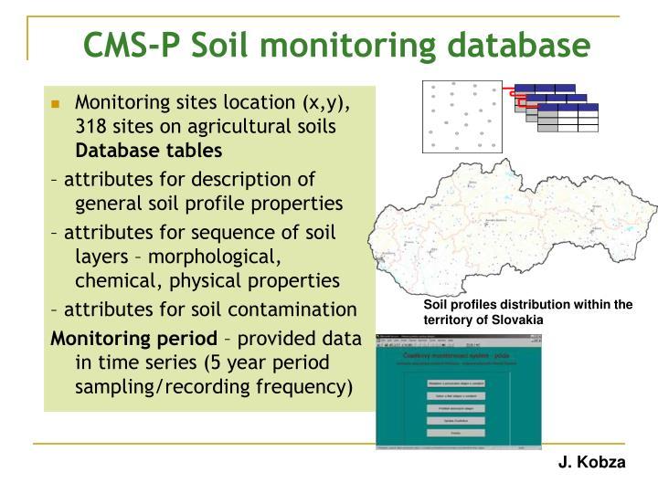 CMS-P Soil monitoring database