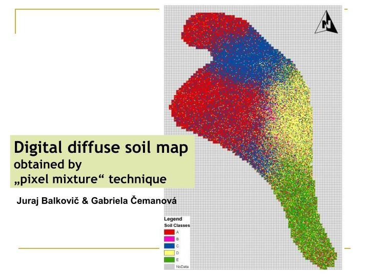 Digital diffuse soil map