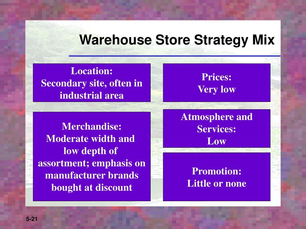 Warehouse Store Strategy Mix