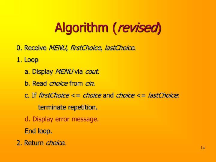 Algorithm (