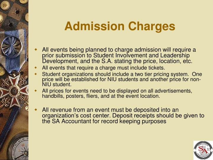 Admission Charges