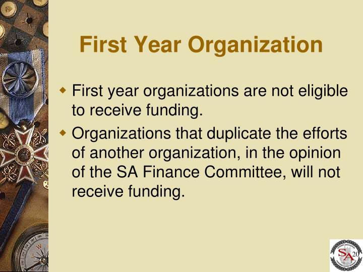 First Year Organization