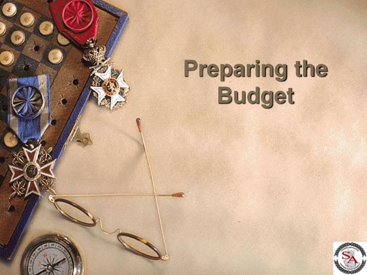 Preparing the Budget