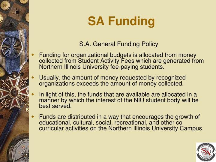 SA Funding