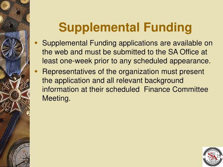 Supplemental Funding
