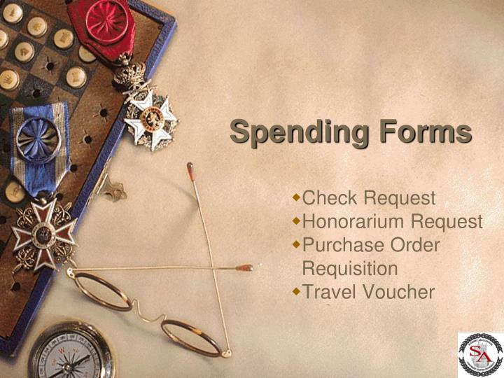 Spending Forms