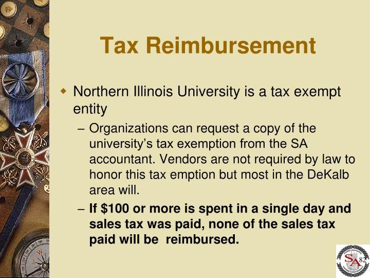Tax Reimbursement