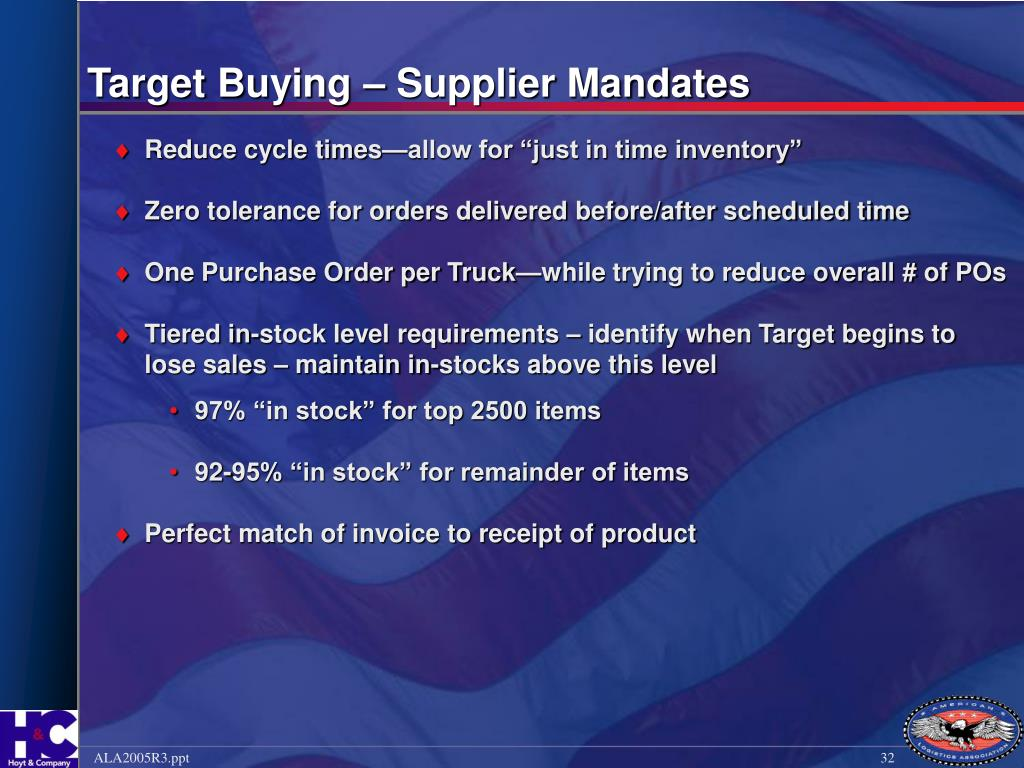Target Buying – Supplier Mandates