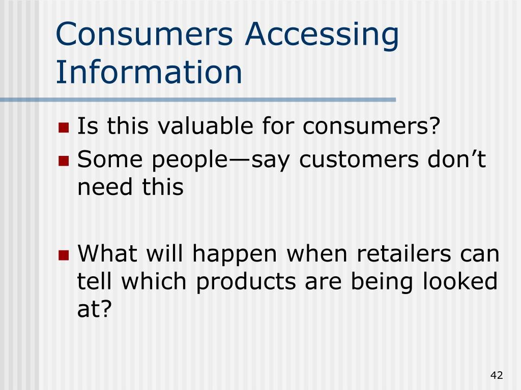 Consumers Accessing Information