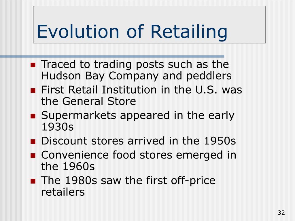 Evolution of Retailing