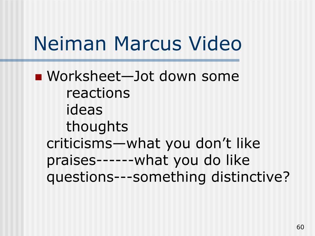Neiman Marcus Video