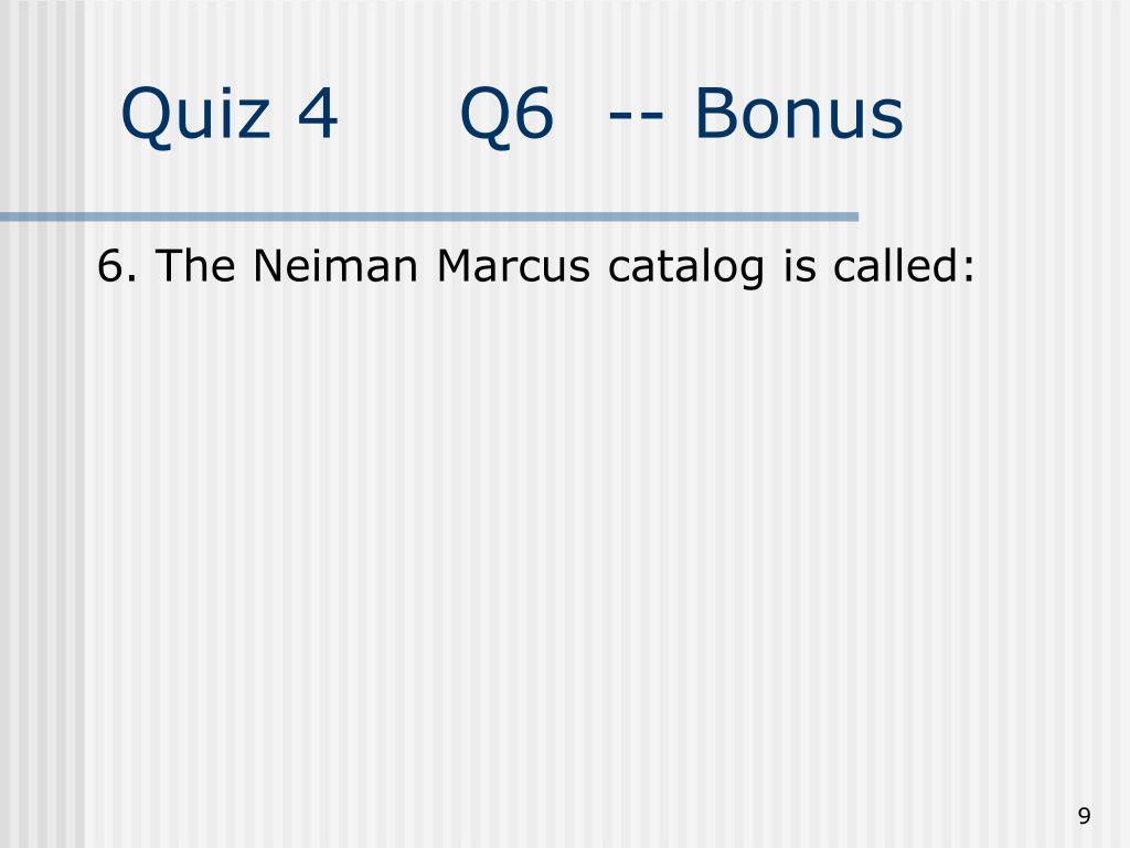 Quiz 4Q6  -- Bonus