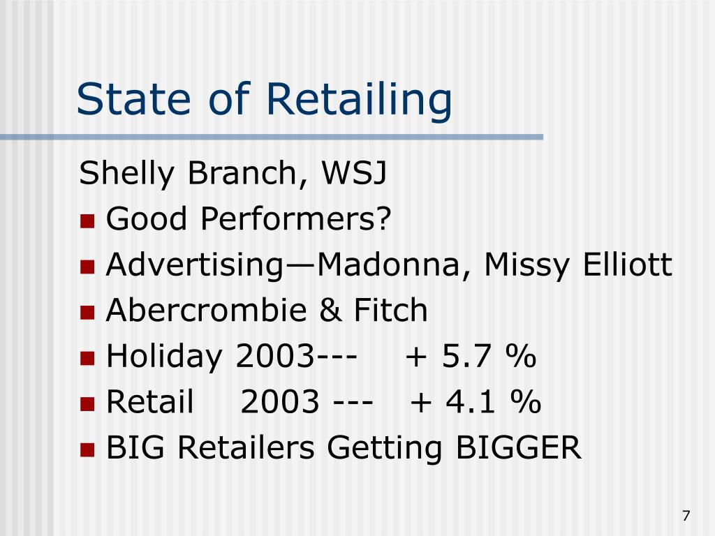 State of Retailing