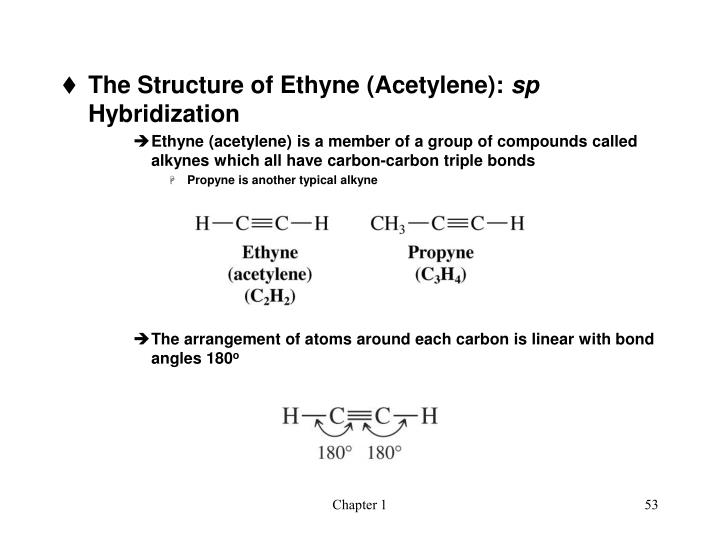 The Structure of Ethyne (Acetylene):