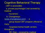 cognitive behavioral therapy1