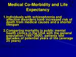 medical co morbidity and life expectancy