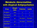 metabolic abnormalities with atypical antipsychotics
