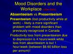 mood disorders and the workplace new data1